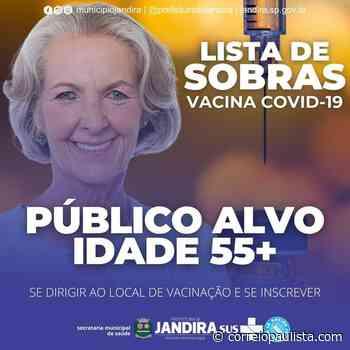 Jandira terá xepa da vacina contra a covid-19 para evitar desperdício - Correio Paulista