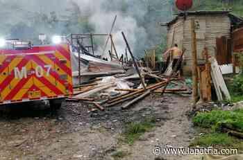 Una casa consumida en incendio en la vía al Guamo - La Patria.com