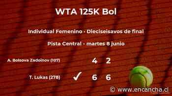 La tenista Tena Lukas estará en la siguiente fase del torneo WTA 125 de Bol tras dar la sorpresa en los dieciseisavos de final - EnCancha.cl