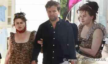 Helena Bonham Carter, 54, and boyfriend Rye Dag Holmboe, 32, enjoy the hot London weather - Daily Mail
