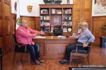 Se reúne Ahued con Eric Cisneros en Palacio de Gobierno - NORESTE
