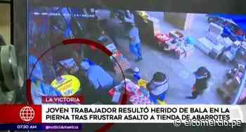 La Victoria: Trabajador resultó herido tras frustrar asalto - El Comercio Perú