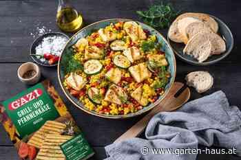 Sommerlicher Perl-Couscous-Salat mit Grillkäse - GARTEN+HAUS