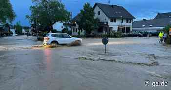 Unwetter in Königswinter und Hennef: Starkregen und Überschwemmungen - ga.de