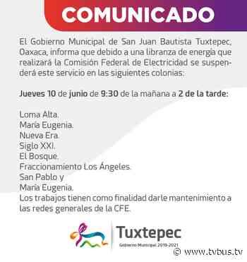 Se quedarán sin luz, 8 colonias de Tuxtepec - TV BUS Canal de comunicación urbana