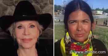 Line 3 pipeline protest explained by activist supporters Jane Fonda, Tara Houska - MSNBC