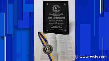 Amherst County deputy awarded Medal of Valor for actions in 2017 shooting - WSLS 10