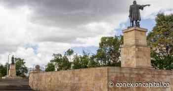 Plantón del pueblo Misak en el monumento a Cristóbal Colón - Canal Capital