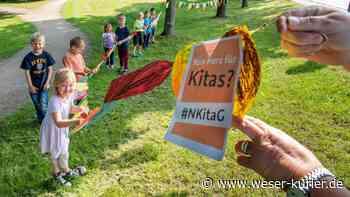 Protest-Aktion gegen das neue Kita-Gesetz - WESER-KURIER