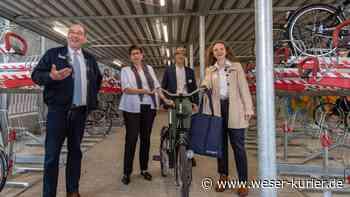 Radabstellanlage und Mobilitätsapp am Achimer Bahnhof vorgestellt - WESER-KURIER