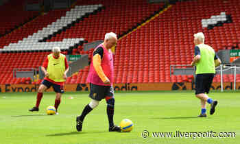 Red Neighbours' walking football participants play at Anfield