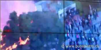 Incendiaron subestación de Policía entre Madrid y Facatativá - Publimetro Colombia
