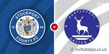 Stockport County vs Hartlepool United Prediction and Betting Tips - MrFixItsTips