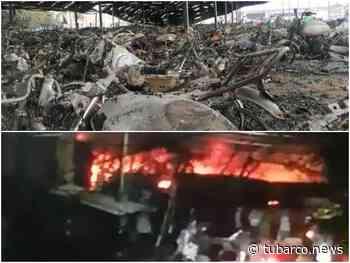 """""""¿Quién responde?"""" por los cerca de 3.000 vehículos quemados en los patios de Tránsito en Candelaria - TuBarco"""