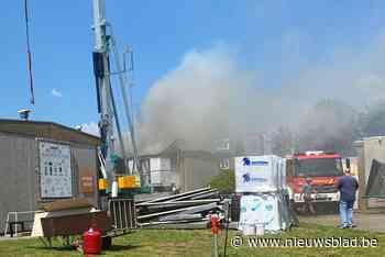 Dakbrand aan Lanakens internaat Caritat