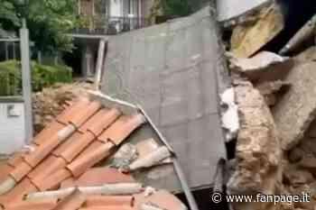 Nubifragio a Roma, crolla un muro in via Malcesine a ridosso di un condominio - Fanpage.it