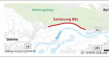 B61 in Barkhausen: Vollsperrung früher als geplant - Mindener Tageblatt