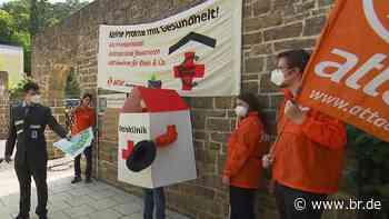 Rhön-Klinikum: Attac protestiert in Bad Neustadt an der Saale - BR24