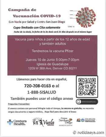 Jornada de vacunación en la iglesia Nuestra Señora de Guadalupe - NoticiasYa