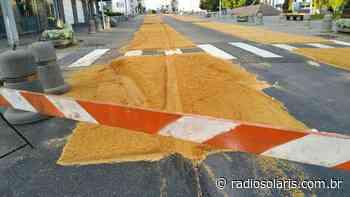 Base dos tapetes de Corpus Christi é danificada em Flores da Cunha | Grupo Solaris - radiosolaris.com.br