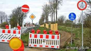 Radwegsanierung in Nordfriesland: Behinderungen für Verkehr: Bauarbeiten B200 zwischen Husum und Viöl gehen weiter   shz.de - shz.de