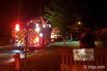 Overnight fire guts flood buy-out house on River Drive South in Fargo - KFGO News
