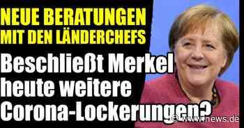MPK mit Angela Merkel im News-Ticker: Einheitliche Regeln gefordert! Gibt es bald Lockerungen für Großveranstaltungen? - news.de
