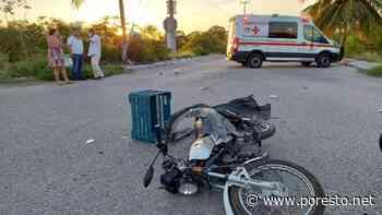 Mujer arrolla a motociclista en Ciudad del Carmen y termina lesionado - PorEsto