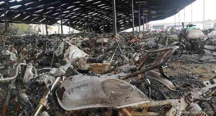 Incendian patios en Candelaria, Valle: hay más de 3.000 vehículos incinerados - Semana