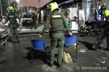 Operativo de la Policía despejó vía que comunica a Cali con Candelaria - 90 Minutos