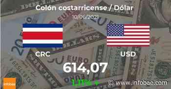 Dólar hoy en Costa Rica: cotización del colón costarricense al dólar estadounidense del 10 de junio. USD CRC - infobae