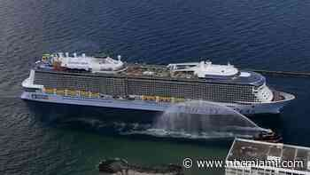 Royal Caribbean's Odyssey of The Seas Cruise Ship Docks at Port Everglades