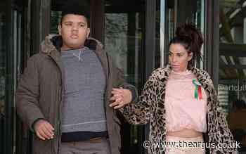 Katie Price appears at court amid alleged racist video