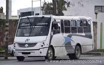 Pandemia provoca crisis entre concesionarios del transporte público: Medina Samaniego - El Sol de Durango