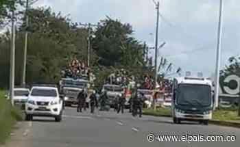 Caravana de indígenas no pudo entrar a Cali y permanece en Jamundí - El País
