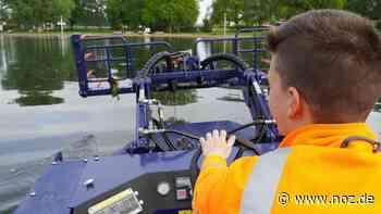 So fährt sich das neue Mähboot auf dem Glockensee in Bad Laer - noz.de - Neue Osnabrücker Zeitung