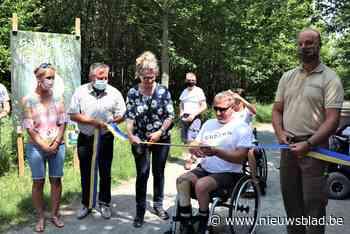 Rolstoel- en dementievriendelijk pad aangelegd in Buggenhout... (Buggenhout) - Het Nieuwsblad