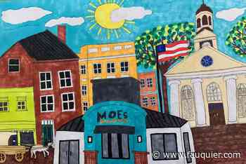 Student Profile: Student's mural brightens wall at new Moe's restaurant - Fauquier Times