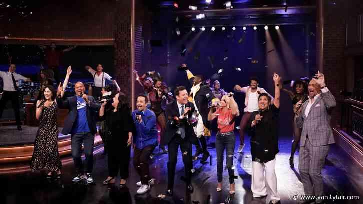 See Lin-Manuel Miranda and Jimmy Fallon Welcome Back Broadway - Vanity Fair