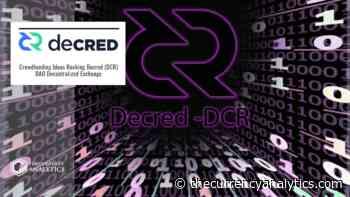 Crowdfunding Ideas Rocking Decred (DCR) DAO Decentralized Exchange - The Cryptocurrency Analytics