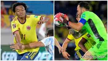 Juan Guillermo Cuadrado y David Ospina fueron los abanderados - Marca Claro Colombia