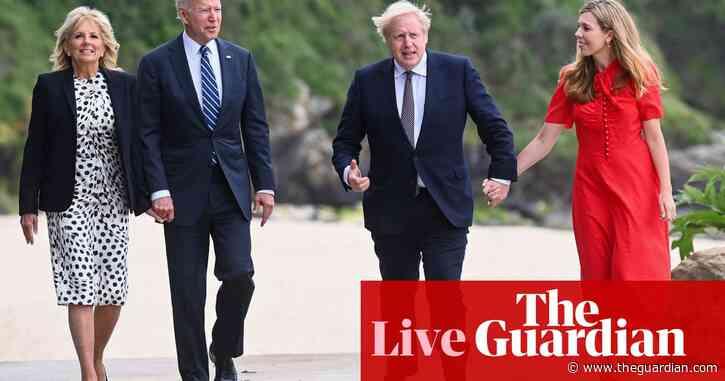 G7 summit live: Boris Johnson praises Joe Biden as 'breath of fresh air' after talks