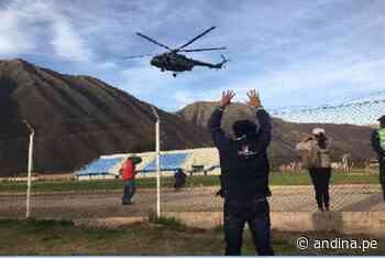 Segunda vuelta: actas electorales del Vraem llegan en helicóptero a Urubamba - Agencia Andina