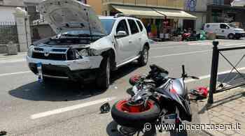 Scontro tra un'auto e una moto a Gragnano, centauro ferito - piacenzasera.it - piacenzasera.it