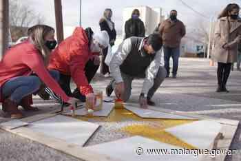 En el día de la seguridad vial se pintó la Estrella Amarilla para recordar a Juan Cruz Fernández – Municipalidad de Malargüe - Municipalidad de Malargüe