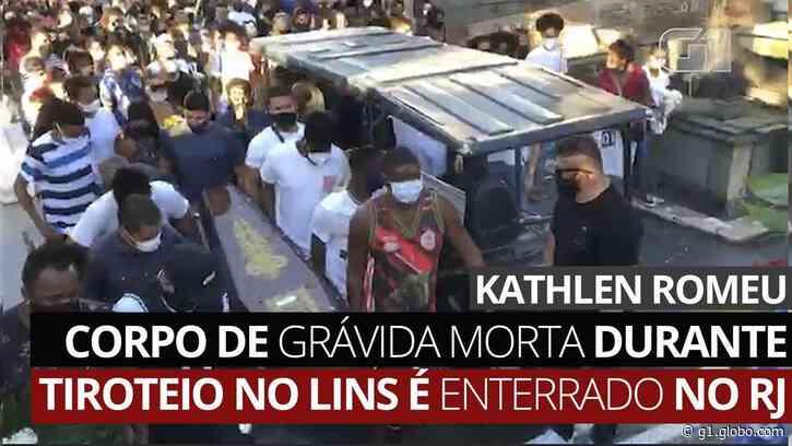 Corpo de grávida morta durante tiroteio no Lins é enterrado no Centro do Rio - G1