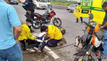 Joven resulta lesionado tras accidentarse en carretera a Santa Ana - Diario La Página