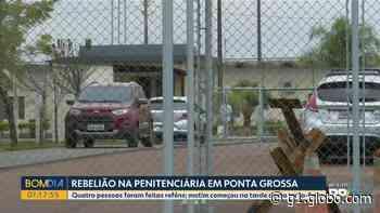 Presos fazem rebelião com reféns na Penitenciária de Ponta Grossa, diz Depen - G1