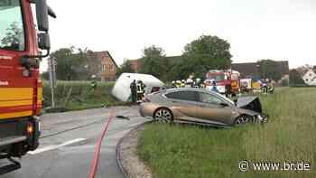 Unfall bei und in Ansbach – Ein Schwerverletzter - BR24