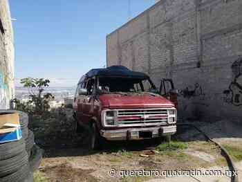 Se incendia vehículo, en Vistas de San Pablo - Quadratín Querétaro